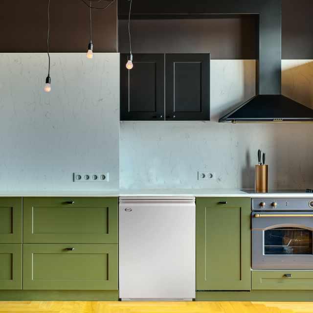Grant oil boiler installed in a kitchen